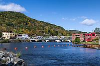 Scenic town of Shelburne Falls, Massachusetts, USA.