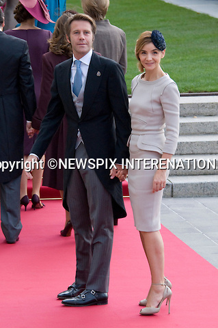 "EMANUELE FILBERTO DE SAVOIE AND CLOTILDE CORAU.Wedding of HRH the Hereditary Grand Duke and Countess Stéphanie de Lannoy.Religious Ceremony at Cathedral of Our lady of Luxembourg, Luxembourg_20-10-2012.Mandatory credit photo: ©Dias/NEWSPIX INTERNATIONAL..(Failure to credit will incur a surcharge of 100% of reproduction fees)..                **ALL FEES PAYABLE TO: ""NEWSPIX INTERNATIONAL""**..IMMEDIATE CONFIRMATION OF USAGE REQUIRED:.Newspix International, 31 Chinnery Hill, Bishop's Stortford, ENGLAND CM23 3PS.Tel:+441279 324672  ; Fax: +441279656877.Mobile:  07775681153.e-mail: info@newspixinternational.co.uk"