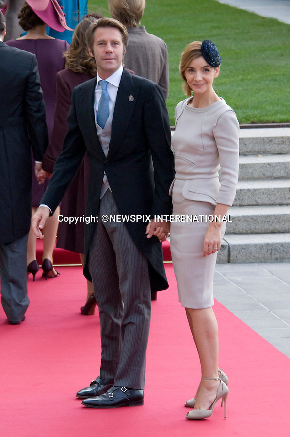 """EMANUELE FILBERTO DE SAVOIE AND CLOTILDE CORAU.Wedding of HRH the Hereditary Grand Duke and Countess Stéphanie de Lannoy.Religious Ceremony at Cathedral of Our lady of Luxembourg, Luxembourg_20-10-2012.Mandatory credit photo: ©Dias/NEWSPIX INTERNATIONAL..(Failure to credit will incur a surcharge of 100% of reproduction fees)..                **ALL FEES PAYABLE TO: """"NEWSPIX INTERNATIONAL""""**..IMMEDIATE CONFIRMATION OF USAGE REQUIRED:.Newspix International, 31 Chinnery Hill, Bishop's Stortford, ENGLAND CM23 3PS.Tel:+441279 324672  ; Fax: +441279656877.Mobile:  07775681153.e-mail: info@newspixinternational.co.uk"""