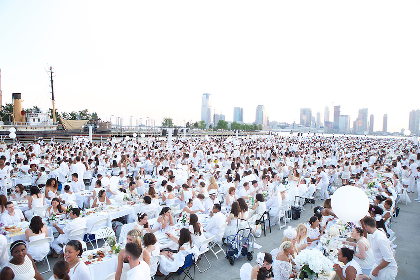 New York, NY - July 28, 2015: The Annual Diner en Blanc dinner took place on Pier 26 in Lower Manhattan. CREDIT: Clay Williams for Diner en Blanc<br /> <br /> &copy; Clay Williams / claywilliamsphoto.com