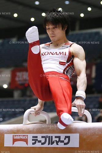 Kohei Uchimura, APRIL 24, 2015 - Artistic Gymnastics : The 69th All Japan Gymnastics Championship Men's Individual All-Around Pommel Horse at 1st Yoyogi Gymnasium, Tokyo, Japan. (Photo by Sho Tamura/AFLO SPORT) [1180]
