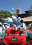 "Smurfs arriving at the Grove for meet the surfs on  ""Global Smurfs Day"" held the Grove in LA. on June 22, 2013."