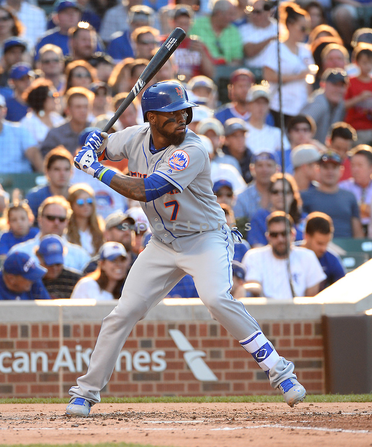 New York Mets Jose Reyes (7) during a game against the Chicago Cubs on July 18, 2016 at Wrigley Field in Chicago, IL. The Cubs beat the Mets 5-1.