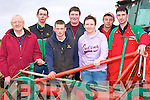 REPAIR: Reparing and preparing their plough for the Abbeydorney Ploughing Championships on Sunday: Eamon Flynn(Causeway), Thomas Egan (Ardfert), Denis McElligott (Tralee), Mike Donegan, Cathy Quilter,Patrick Boyle and Colm Dineen (Causeway).......................