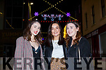 Ramy English, Fiona Healy and Aoife Molloy enjoying the night in Tralee on Thursday night.
