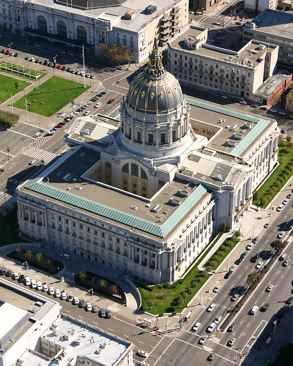 October 16, 2005; San Francisco, CA, USA; Aerial view of San Francisco City Hall in San Francisco, CA. Photo by: Phillip Carter