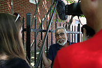 (180512RREI0035) Walter Martinez being interviewed by the Smithsonian. La Esquina Project goes to La Esquina.  The documentary project La Esquina revolves around the history of the Latinos at the corner of Mt. Pleasant St. and Kenyon St. NW. Washington DC. May 12, 2018 . ©  Rick Reinhard  2018     email   rick@rickreinhard.com