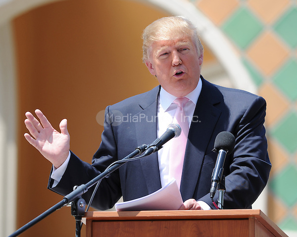 BOCA RATON, FL - APRIL 16 : Donald Trump Speaks at South Florida Tax Day Tea Party Rally at Sanborn Square n Sunrise Florida. April 16, 2011. © MPI04 / Media Punch Inc.