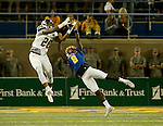 BROOKINGS, SD - SEPTEMBER 24:  Anthony Washington #8 from South Dakota State University breaks up a pass intended for Devon Moore #28 from Western Illinois in the second half of their game Saturday evening at Dana J. Dykhouse Stadium in Brookings. (Photo by Dave Eggen/Inertia)
