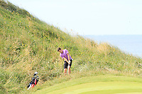Ryan McKinstry (Cairndhu) on the 11th green during Round 3 of The South of Ireland in Lahinch Golf Club on Monday 28th July 2014.<br /> Picture:  Thos Caffrey / www.golffile.ie