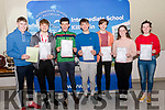 Intermediate School Killorglin Leaving Cert students <br /> L-R Rory O'Connor, Tim Moskal, Dara McKeefry, Ronan Fitzpatrick, Conor Claret, Grace O'Grady & Hannah Duffy.<br /> <br /> <br /> *Contact 087 385 3503 Grace O'Grady