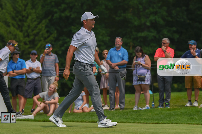 Jason Day (AUS) heads down 4 during 4th round of the World Golf Championships - Bridgestone Invitational, at the Firestone Country Club, Akron, Ohio. 8/5/2018.<br /> Picture: Golffile | Ken Murray<br /> <br /> <br /> All photo usage must carry mandatory copyright credit (© Golffile | Ken Murray)