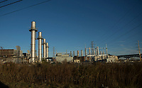 KEARNY, NJ - NOVEMBER 17: A Power plant it's seen from the street on November 17, 2017 in Kearny New Jersey. United States still contributting to the global greenhouse gas emissions as the Trump Administration have dismantled the U.S. foreign-policy to reduce carbon pollution, political divisions in the United States over climate change spilled over to the outside world has been seen at the COP23 United Nations Climate Change Conference that ends today in Bonn, Germany (Photo by Kena Betancur/VIEWpress/Corbis via Getty Images)