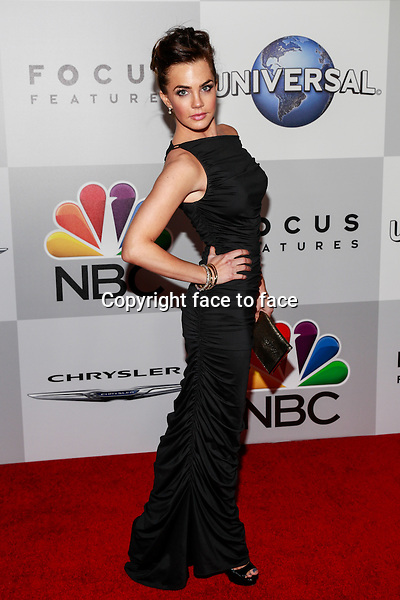 BEVERLY HILLS, CA - JANUARY 12: Jillian Murray arrives at the 71st Golden Globe Awards: Universal, NBC, Focus Features, E! sponsored by Chrysler viewing and after party held at The Beverly Hilton Hotel in Beverly Hills, CA on January, 12, 2014.<br />