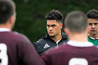 NZ captain Quinn Tupaea during the New Zealand Schools training at the Sport and Rugby Institute in Palmerston North, New Zealand on Monday, 25 September 2017. Photo: Dave Lintott / lintottphoto.co.nz