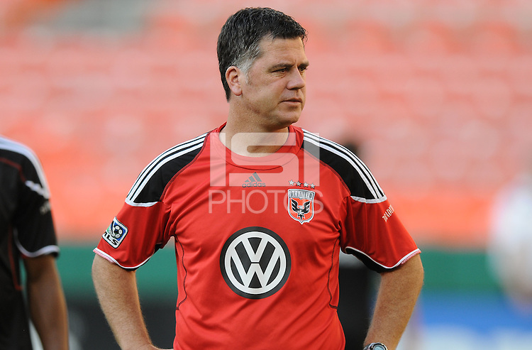 DC United assistant coach Chris Kelderman.  DC United defeated The Kansas City Wizards  2-0 at RFK Stadium, Wednesday  May 5, 2010.