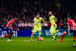 Lionel Messi of FC Barcelona (C) in action during the La Liga 2018-19 match between Atletico Madrid and FC Barcelona at Wanda Metropolitano on November 24 2018 in Madrid, Spain. Photo by Diego Souto / Power Sport Images