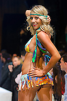 Miami Dolphins Cheerleader Nicole walks runway at Miami Dolphins Cheerleaders Swimsuit 2014 Calendar Unveiling and Fashion Show at Fontainebleau's LIV nightclub, Miami Beach, FL, September 5, 2013
