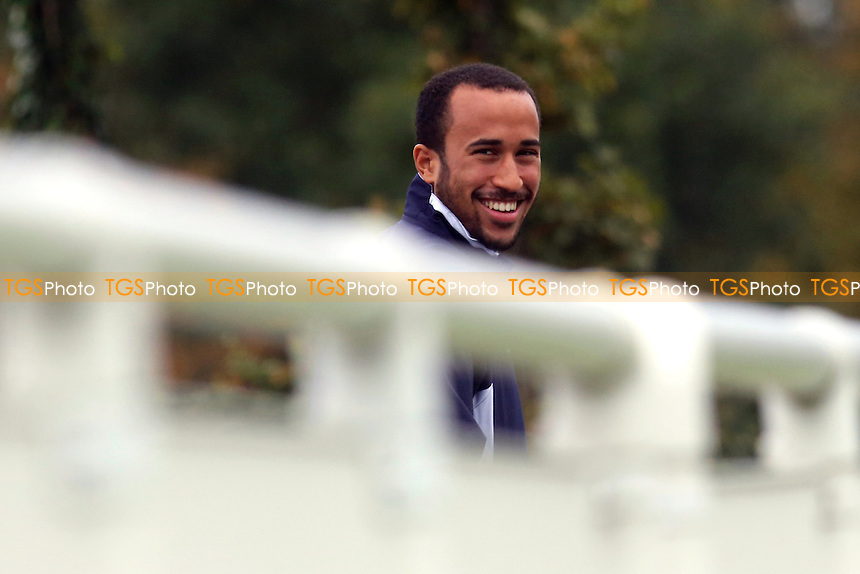 Andros Townsend of Tootenham paid a visit to the training ground and watched the Under 21 team against Leicester - Tottenham Hotspur Under-21 vs Leicester City Under-21 - Barclays Under-21 Premier League Football - 21/10/13 - MANDATORY CREDIT: Paul Dennis/TGSPHOTO - Self billing applies where appropriate - 0845 094 6026 - contact@tgsphoto.co.uk - NO UNPAID USE