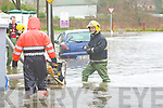 Emergency services and Tralee Town council at the scene of Flooding at Ballymullen Tralee on Thursday