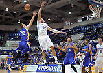 January 2, 2016 - Colorado Springs, Colorado, U.S. -  San Jose State forward, Ryan Welage #32, and Falcon, Hayden Graham #35, battle for a rebound during an NCAA basketball game between the San Jose State Spartans and the Air Force Academy Falcons at Clune Arena, U.S. Air Force Academy, Colorado Springs, Colorado.  Air Force defeats San Jose State 64-57.