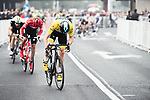 Christopher Froome (GBR) Team Sky leads the field during the 2017 Tour de France Skoda Shanghai Criterium, Shanghai, China. 29th October 2017.<br /> Picture: ASO/Pauline Ballet | Cyclefile<br /> <br /> <br /> All photos usage must carry mandatory copyright credit (&copy; Cyclefile | ASO/Pauline Ballet)