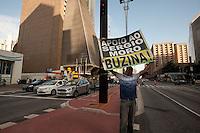SÃO PAULO, SP, 21.03.2016 - PROTESTO-SP - Manifestantes contrários ao governo Dilma e ao ex-presidente Lula seguem acampados em frente a sede da Fiesp naa avenida Paulista nesta segunda-feira 21. (Foto: Gabriel Soares/Brazil Photo Press)