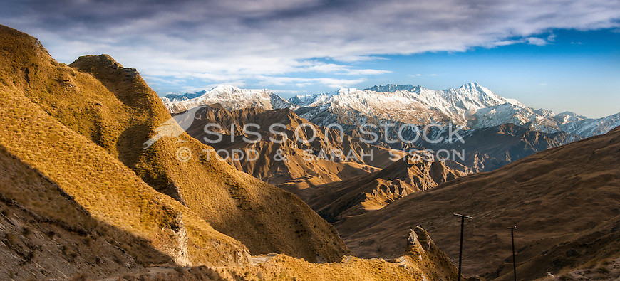 Skippers Canyon near Queenstown, New Zealand - stock photo, canvas, fine art print