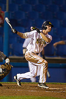 Michigan Wolverines outfielder Will Drake #4 at bat during a game against the Pittsburgh Panthers at the Big Ten/Big East Challenge at Florida Auto Exchange Stadium on February 17, 2012 in Dunedin, Florida.  (Mike Janes/Four Seam Images)