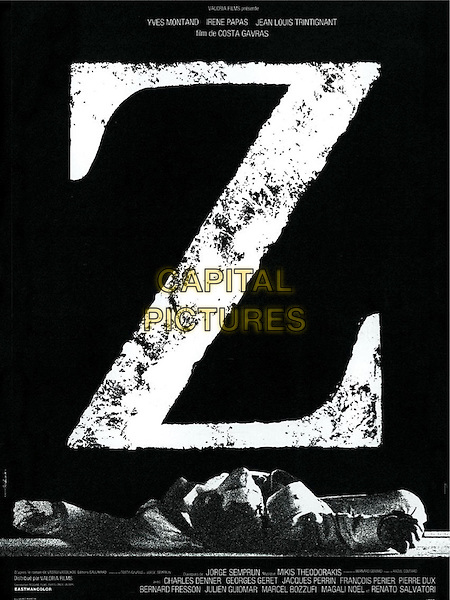 POSTER ART<br /> in Z (1969) <br /> *Filmstill - Editorial Use Only*<br /> CAP/NFS<br /> Image supplied by Capital Pictures