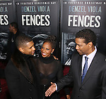 Usher and Pauletta Washington and Denzel Washington attend the 'Fences' New York screening at Rose Theater, Jazz at Lincoln Center on December 19, 2016 in New York City.
