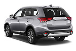 Car pictures of rear three quarter view of 2019 Mitsubishi Outlander GT 5 Door SUV Angular Rear