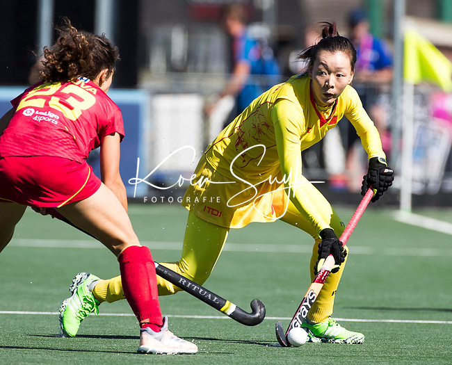 BREDA -  Wanli Tang (Chn)  tijdens Spanje-China bij de 4 Nations Trophy dames 2018 .  COPYRIGHT  KOEN SUYK