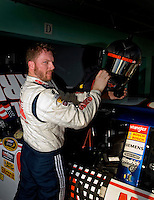 Nov. 15, 2008; Homestead, FL, USA; NASCAR Sprint Cup Series driver Dale Earnhardt Jr during practice for the Ford 400 at Homestead Miami Speedway. Mandatory Credit: Mark J. Rebilas-