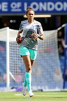 Tottenham Hotspur Women's goalkeeper, Chloe Morgan, warms up ahead of kick-off during Chelsea Women vs Tottenham Hotspur Women, Barclays FA Women's Super League Football at Stamford Bridge on 8th September 2019