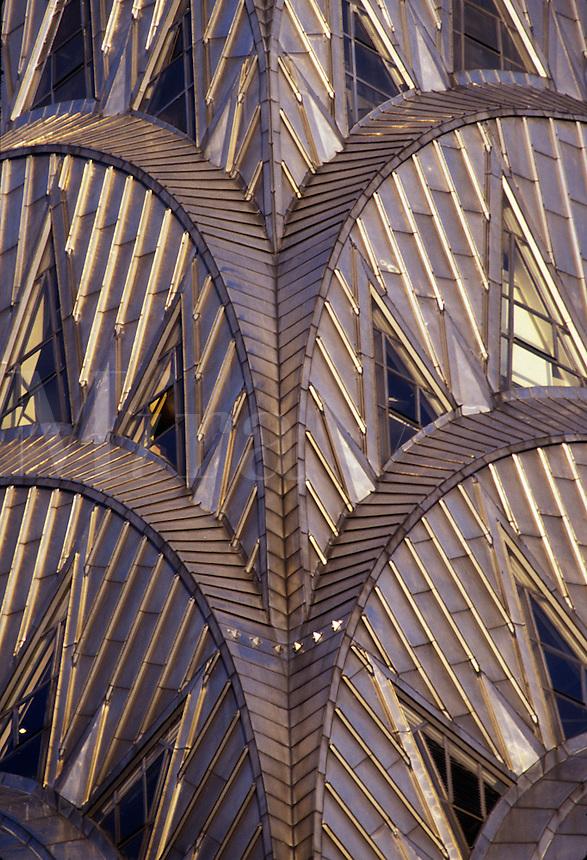 Chrysler Building detail;, New York