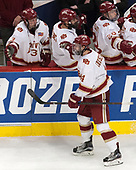 Tariq Hammond (DU - 3), Will Butcher (DU - 4), Jarid Lukosevicius (DU - 14), Adam Plant (DU - 28) - The University of Denver Pioneers defeated the University of Minnesota Duluth Bulldogs 3-2 to win the national championship on Saturday, April 8, 2017, at the United Center in Chicago, Illinois.