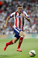 Siqueira of Atletico de Madrid during La Liga match between Real Madrid and Atletico de Madrid at Santiago Bernabeu stadium in Madrid, Spain. September 13, 2014. (ALTERPHOTOS/Caro Marin)
