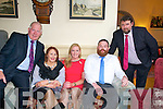 Listowel Rugby Club Social: Attending the Listowel Rugby Club Dinner dance at The Listowel Arms Hotel on Saturday night last were PJ Reily, Marie Riley, Christina Riley, Graham O'Sullivan & Ivor McSweeney.