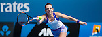 Simona Halep (ROU) loses to Ekaterina Makanrova (RUS) 6-4, 6-0 at the Australian Open being played at Melbourne Park in Melbourne, Australia on January 27, 2015