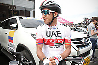 LA CEJA - COLOMBIA, 13-02-2019: Sergio Luis Henao (COL), UAE Team Emirates, durante la segunda etapa del Tour Colombia 2.1 2019 con un recorrido de 150.5 Km, que se corrió entre La Ceja Canadá - Carmen de Viboral - Rionegro - Canadá - La Ceja. / Sergio Luis Henao (COL), UAE Team Emirates, during the second stage of 150.5 km of Tour Colombia 2.1 2019 that ran through La Ceja Canada - Carmen de Viboral - Rionegro - Canada - La Ceja.  Photo: VizzorImage / Fedeciclismo Prensa