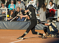 NWA Democrat-Gazette/BEN GOFF @NWABENGOFF<br /> Bentonville vs Bentonville West softball Tuesday, April 10, 2018, during the game at Bentonville West's Wolverine Athletic Complex in Centerton.