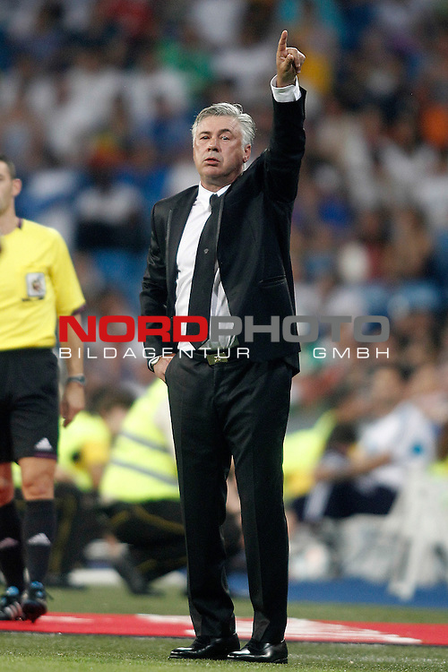 Real Madrid's coach Carlo Ancelotti during La Liga match.August 18,2013. Foto © nph / Acero)