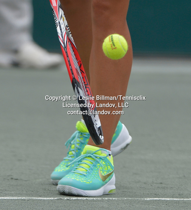 Lucie Hradecka (CZE) loses to Madison Keys (USA)  6-1, 6-4 in the semis at the Family Circle Cup in Charleston, South Carolina on April 11, 2015.