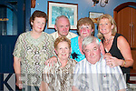 FUNDRAISER: Attending the Eddie Lee dance night in the White Sands Hotel on Saturday were, front, Mary and Pat Joe Godley. Back from left, Kathleen Moloney, Michael Moloney, Patsy Godley and Kay ODonnell (all from Ballyheigue)..