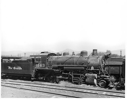 D&amp;RGW #1143 in Salt Lake City.  This engine was sold to Geneva Steel Division on Jan 9, 1956.<br /> D&amp;RGW  Salt Lake City, UT  Taken by Payne, Andy M. - 5/6/1955
