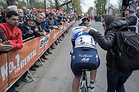 race winner Anna van der Breggen (NED/Boels Dolmans) after finishing <br /> <br /> La Fl&egrave;che Wallonne Feminine 2017 (1.WWT)<br /> One Day Race: Huy &rsaquo; Mur de Huy (120km)