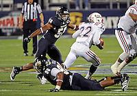 Florida International University football player linebacker Chris Edwards (56) plays against the Florida Atlantic University on November 12, 2011 at Miami, Florida. FIU won the game 41-7. .