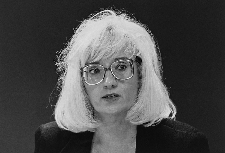 Close-up of Senate Candidate Susan Heinz, R-Mich., in August 1996. (Photo by Rebecca Roth/CQ Roll Call via Getty Images)