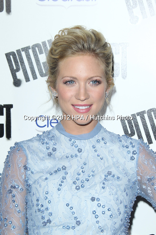"""LOS ANGELES - SEP 24:  Brittany Snow arrives at the """"Pitch Perfect'"""" Premiere at ArcLight Cinemas on September 24, 2012 in Los Angeles, CA"""